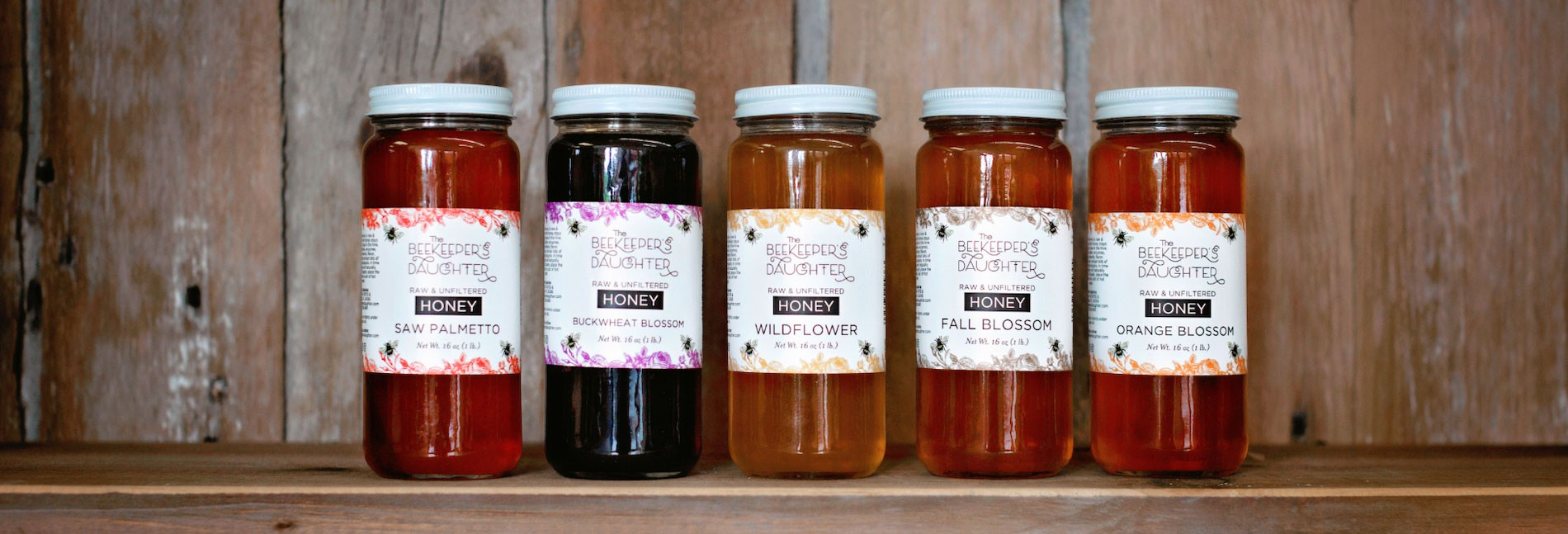 5 options of delicious honey