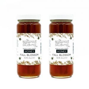 2 fall blossom honey jars