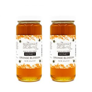 2 orange blossom honey jars